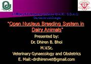Open Nucleus Breeding System in Dairy An