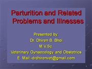 Parturition and Related Problems and Ill