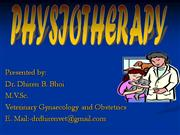 physiotherapy By; DR DHIREN B  BHOI