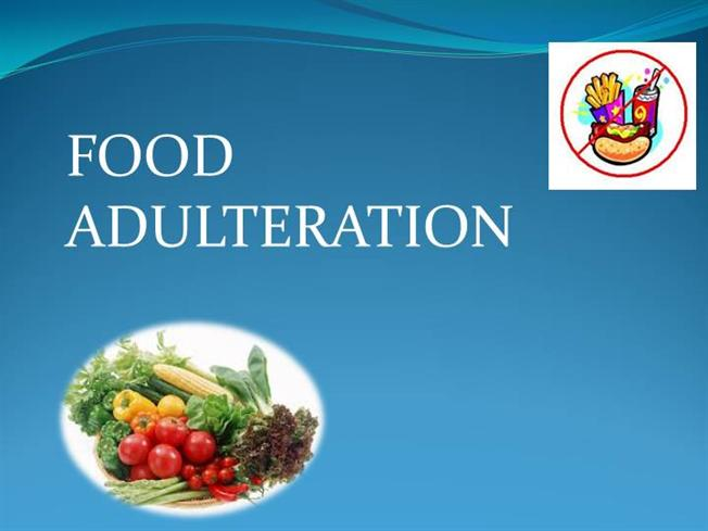 food adulteration project