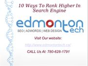 Edmonton Tech - SEO, Social Media Marketing, Google Adwords