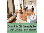 Out with the Old, In with the New Easy De-Cluttering Tips for the Home