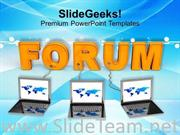 LAPTOPS WITH FORUM INTERNET POWERPOINT TEMPLATE