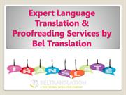 Expert Language Translation & Proofreading Services by Bel Translation