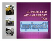 Go protected with an Airport Taxi