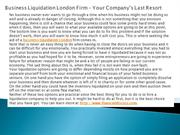 Business Liquidation London Firm – Your Company's Last Resort