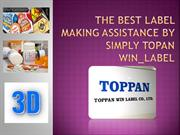 The best Label making assistance by simply Topan