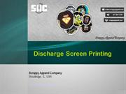 Forms Of Printing: Water Base And Discharge Screen Printing