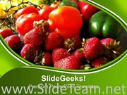 FRUITS AND VEGGIES HEALTH POWERPOINT TEMPLATE
