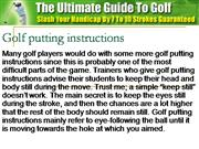 Golf putting instructions