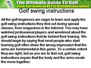 Golf swing instructions