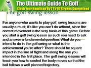 The golf swing lesson
