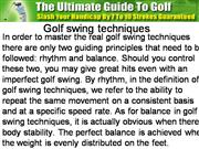 Golf swing techniques