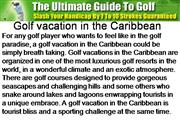 Golf vacation in the Caribbean