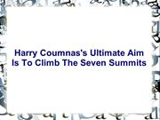 Harry Coumnas's Ultimate Aim Is To Climb The Seven Summits