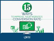 WSI eBook: 15 WAYS TO IMPROVE YOUR WEBSITE'S CONVERSION RATE
