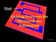 Etching Processes for Microsystems Fabrication