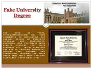 Fake University Degree
