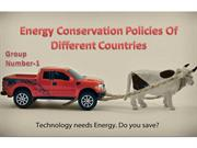 Energy Conservation Policies Of Different Countries