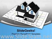 RISE IN PRICES OF REAL ESTATE CHART POWERPOINT TEMPLATE