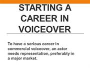 Starting a Career in Voiceover