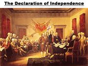 Main Points The Declaration of Independence