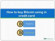Final - How To Buy Bitcoin Using in Credit Card
