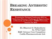Breaking Antibiotic Resistance