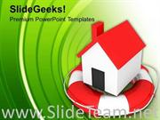 HOME IN LIFESAVER POWERPOINT TEMPLATE
