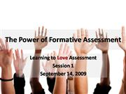 The Power of Formative Assessment  1
