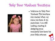 Introducing Baby Bow Madness Boutique