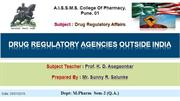 drug regulatory affairs