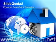 LOCKED HOUSE SECURITY POWERPOINT TEMPLATE