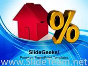 HOUSE AND PERCENT SYMBOL INVESTMENT POWERPOINT TEMPLATE