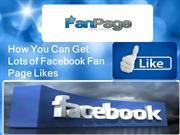 How To Get Facebook Fan Page Likes