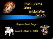 Delta Co PUPS TO DEVIL DOGS 2009
