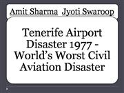 Tenerife Disaster 1977 Powerpoint Presentation