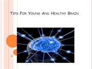 Tips For Young And Healthy Brain