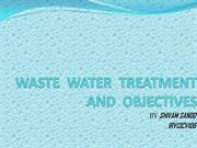 WATER  TREATMENT  AND  OBJECTIVES