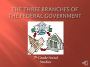 The Three Branches of the Federal Government