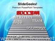 IMAGE OF STAIRWAY TO SUCCESS POWERPOINT TEMPLATE IMAGE