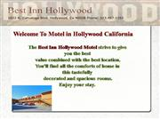 Best Inn Hollywood Motel CA