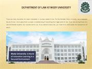 Department Of Law At Mody University