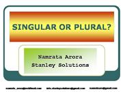 English Grammar: Singular or Plural?