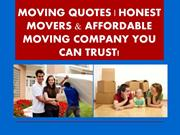 MOVING QUOTES  HONEST MOVERS & AFFORDABLE MOVING COMPANY YOU CAN TRUST