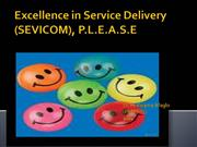 Excellence in Service Delivery - PLEASE