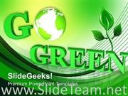 HELPING THE WORLD GO GREEN POWERPOINT TEMPLATE