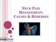 Neck Pain Management Causes & Remedies