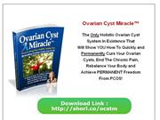 Ovarian Cyst Miracle PDF Download Ebook ???