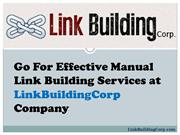 Effective Manual Link Building Services at LinkBuildingCorp Company